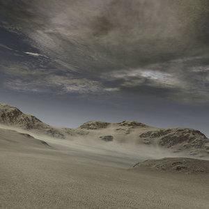 mountain range hills landscape 3d max