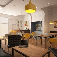office coffee bar 3d model