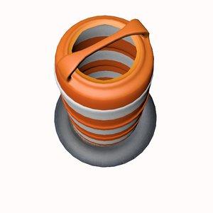 barrel barricade 3d 3ds
