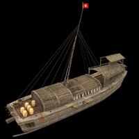 3d chinese junkfishing model