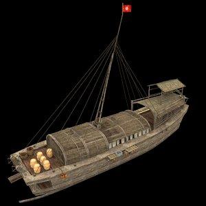 3d chinese junkfishing model