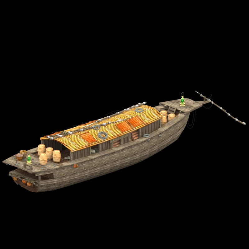 3d chinese fish boat