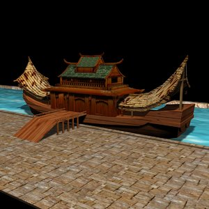 chinese house 3d max