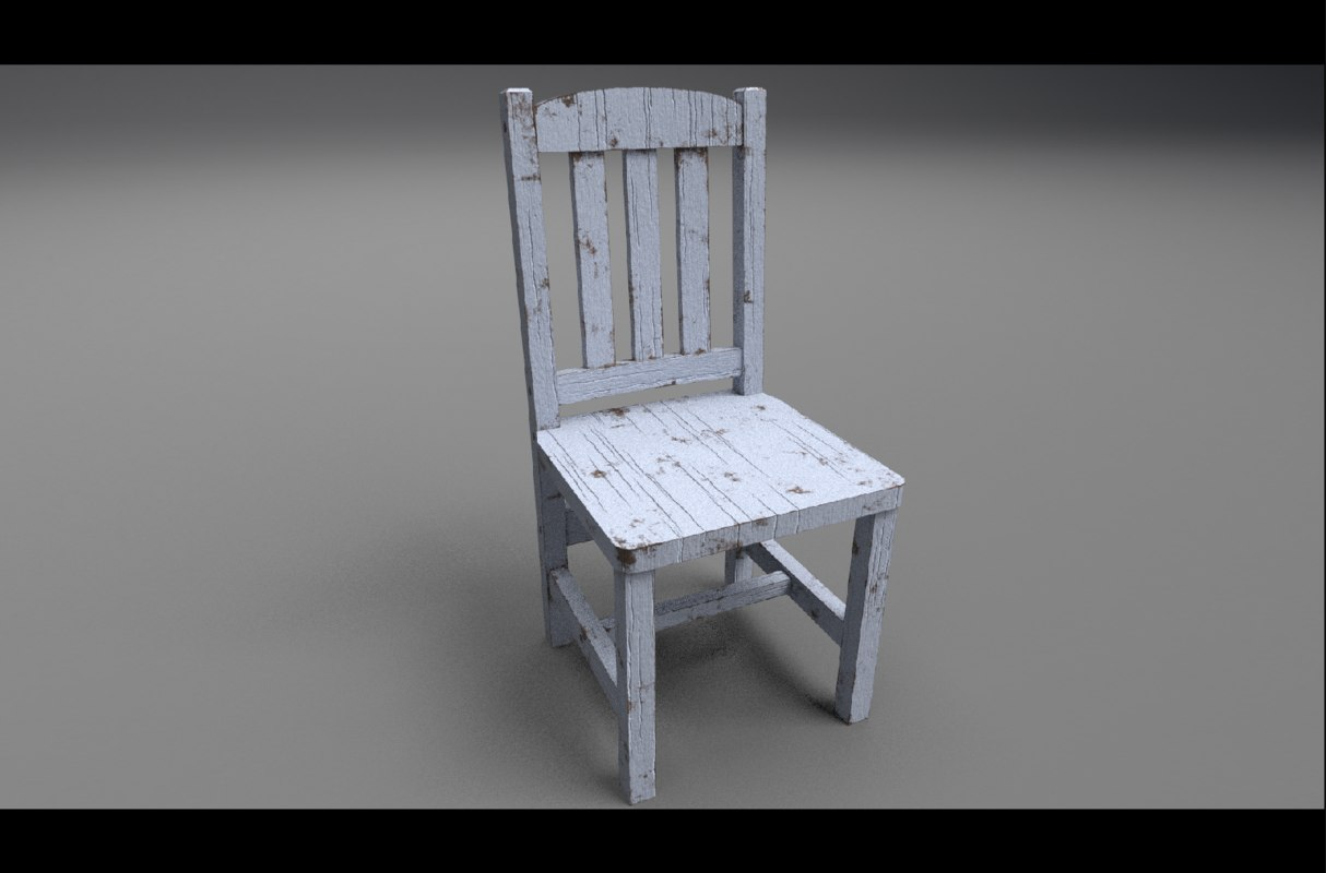 3d model of chair old dining