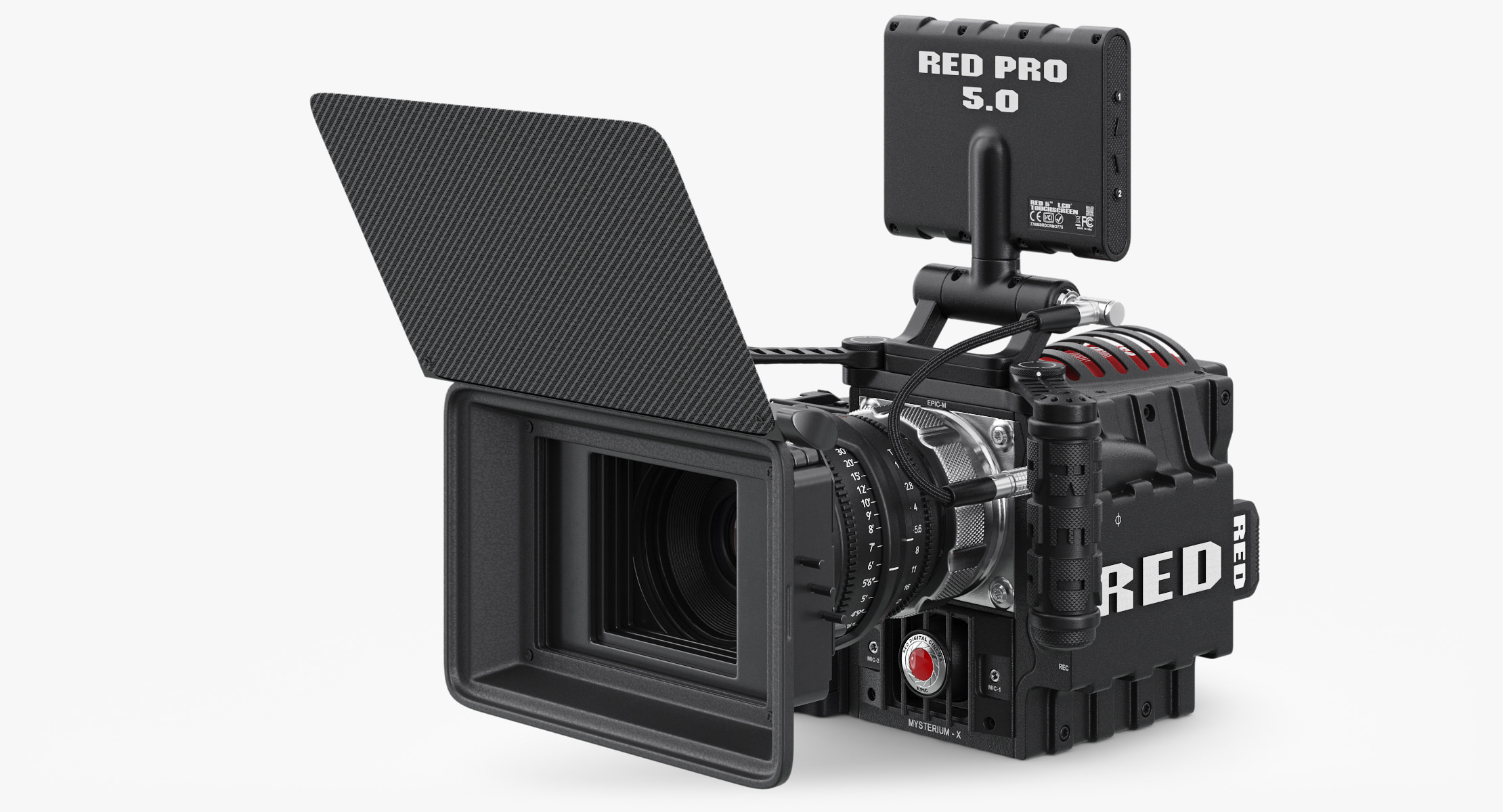 red epic camera 3d model
