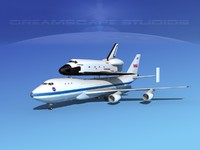 transport space shuttle 3d model