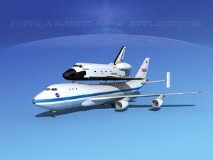 transport space shuttle 3d model
