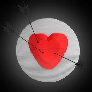 heart target 3d model