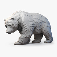 Walking Bear Sculpture Fur