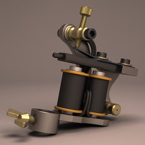 liner tattoo machine 3d max