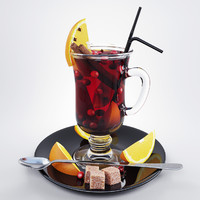 mulled wine 3d model