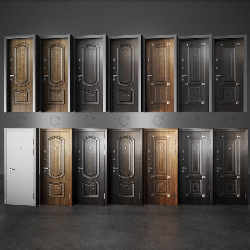 3d model professor door entry