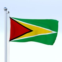 3d fbx flag pole