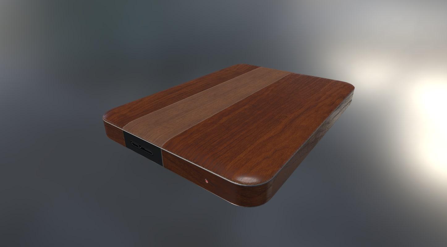 3d version external hard drive model