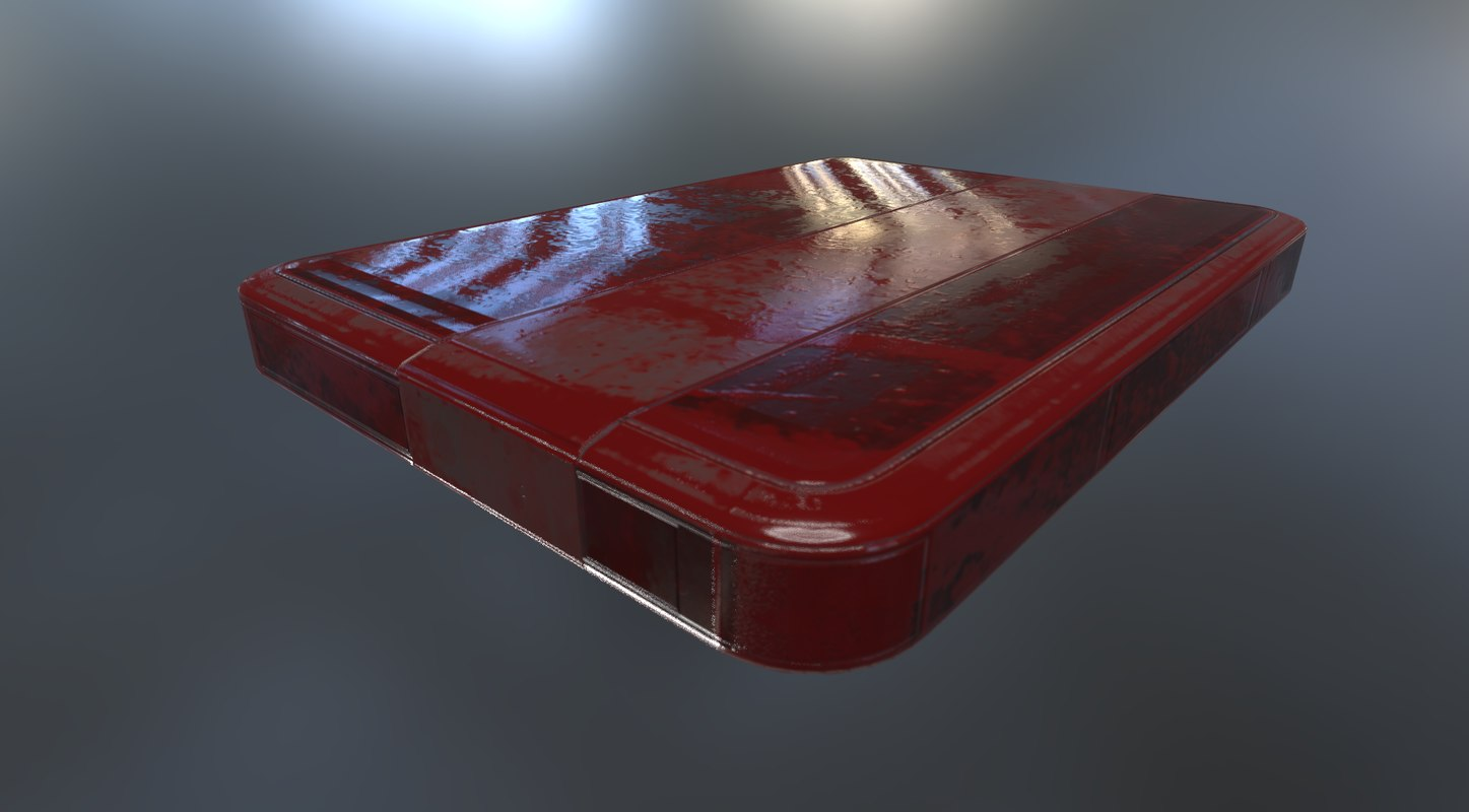 3d version external hard drive model