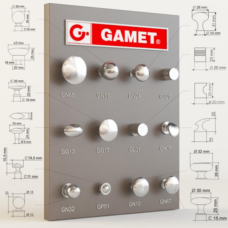 gamet furniture knobs max