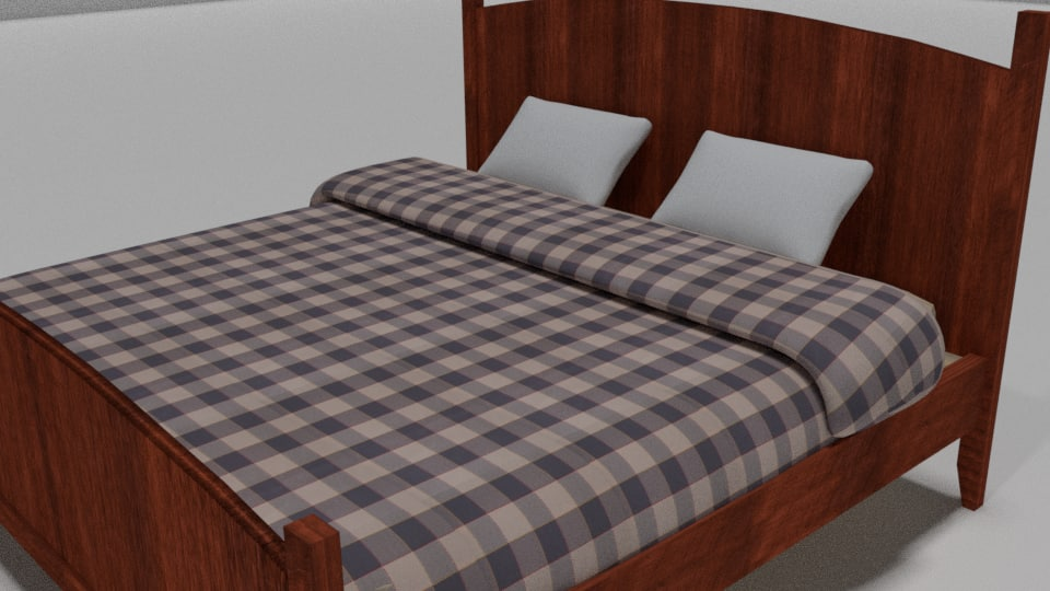 bed realistic 3d blend