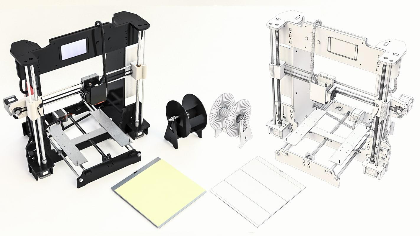 3d model printer pla abs