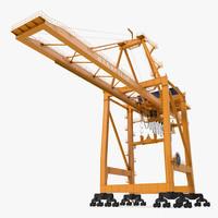 container handling gantry crane 3d model