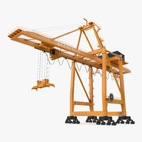 3d model container handling gantry crane