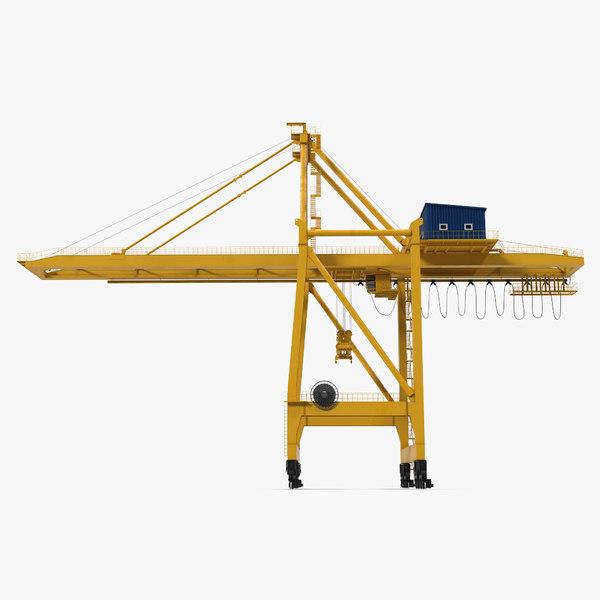 3d quayside container crane model