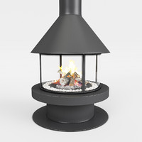 fireplace rocal gala 3d model