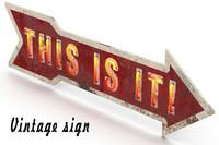 vintage sign 3d max