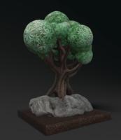 Sculpture cartoon the tree(1)