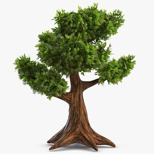 old cartoon tree 3d max