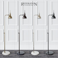floor lamp restoration hardware 3d model