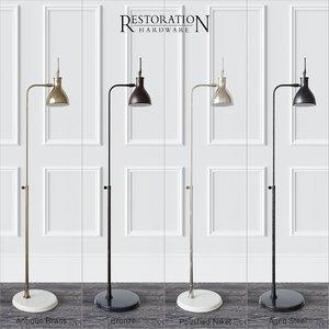 floor lamp restoration hardware 3d model