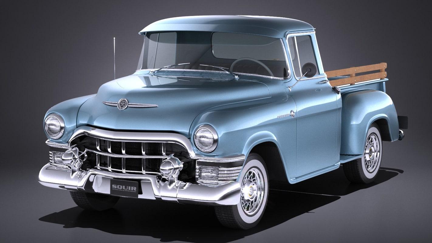 generic classic pickup 3d 3ds