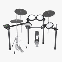 photoreal electronic drum 3d model