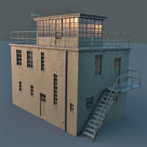 3d ww2 control tower