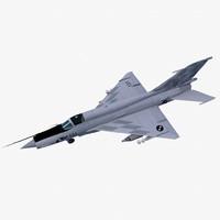 3d mikoyan-gurevich mig-21bis fighter aircraft