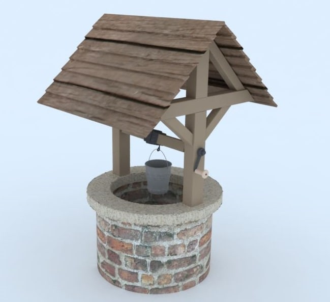 3d model old well