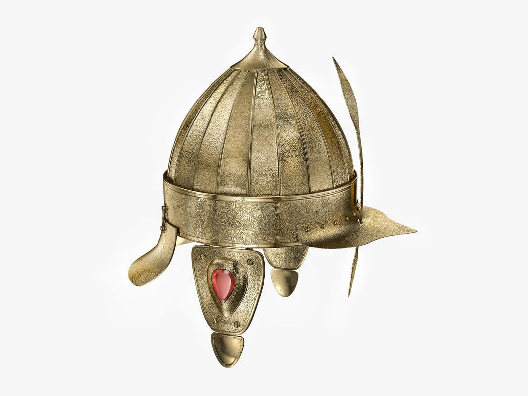 ottoman helmet 3d max