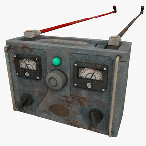 3d model old battery charger