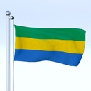 Gabon flag 3D models