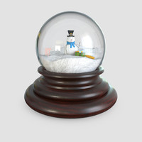 glass snow globes 3d 3ds