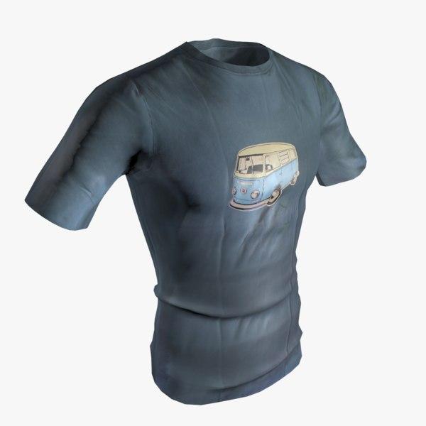 t-shirt short sleeves obj