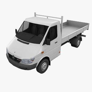 mercedes sprinter dump truck 3d max
