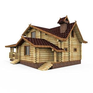 3d wood bar house