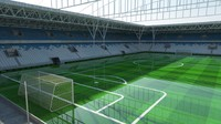 3d model stadium goals field