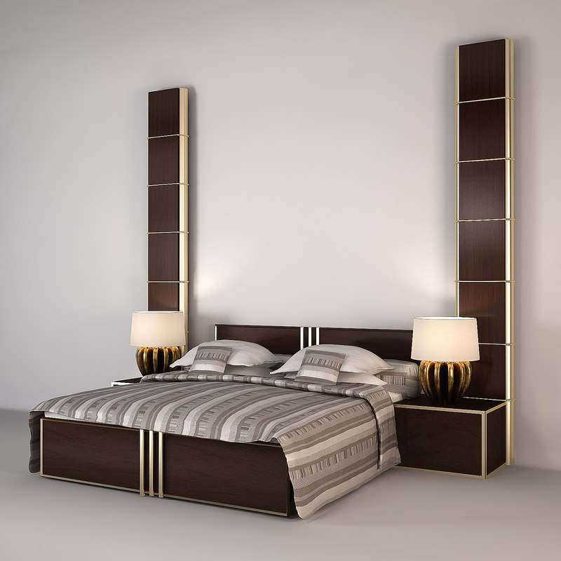 3d model bed lamps