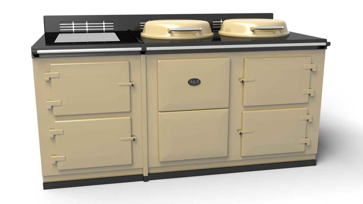 aga cooker 3d model