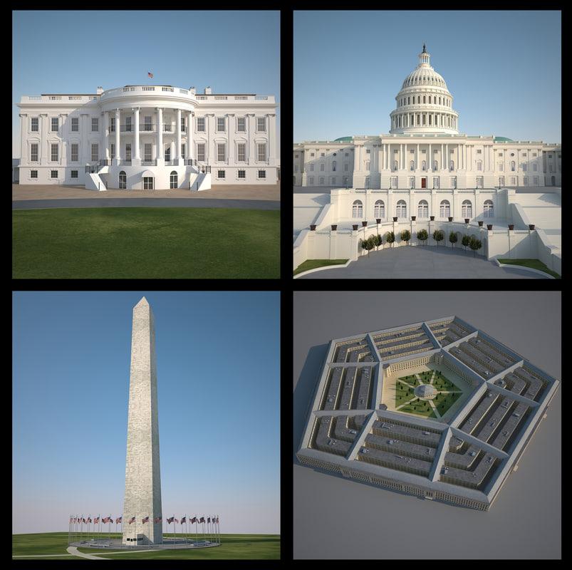 3d washington capitol monument