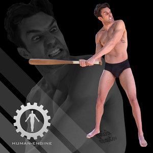 3d model male scan - dan