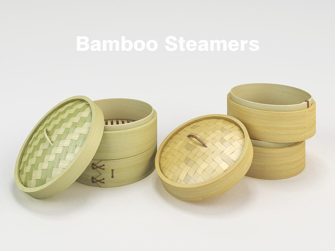 3d bamboo steamer steam