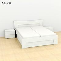 3d bed 180 200 cm model